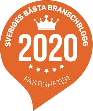 Sveriges Bästa Branschblogg 2020 – Fastigheter