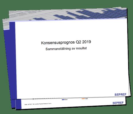 SEPREF Konsensusprognos Q2 2019